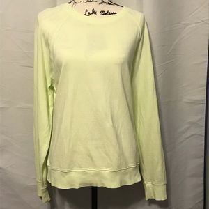 Athleta Pale Lime Sundown Sweater